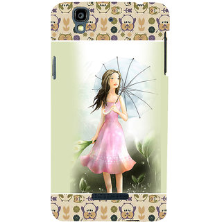 ifasho young Girl with umbrella Back Case Cover for YU Yurekha
