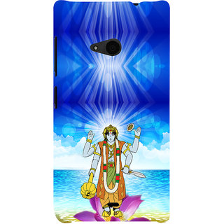 ifasho Lord Vishnu Back Case Cover for Nokia Lumia 535