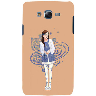 ifasho Beautiful Girl Back Case Cover for Samsung Galaxy J5