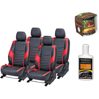 Pegasus Premium Seat Cover for  Honda Brio With Aerozel Wild Mist Gel Perfume and Dashboard polish