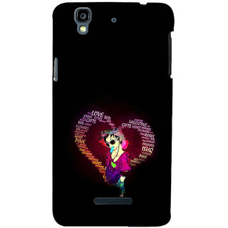 ifasho Animated Pattern With Love and heart and Ishq Back Case Cover for YU Yurekha