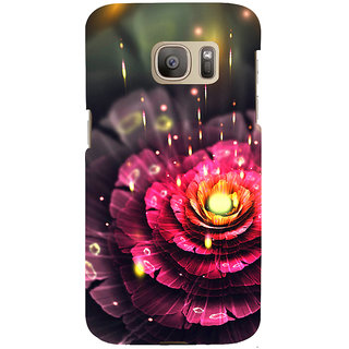 ifasho water Drop on flower Back Case Cover for Samsung Galaxy S7 Edge