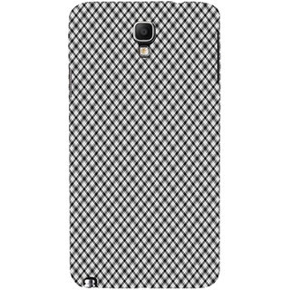 ifasho Design lines pattern and square pattern Back Case Cover for Samsung Galaxy Note3 Neo
