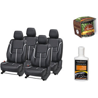 Pegasus Premium Seat Cover for  Ford Figo With Aerozel Wild Mist Gel Perfume and Dashboard polish