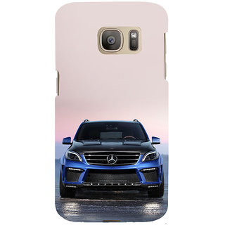ifasho Amzing blue Car Back Case Cover for Samsung Galaxy S7 Edge