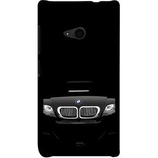 ifasho Stylish long Car Back Case Cover for Nokia Lumia 535