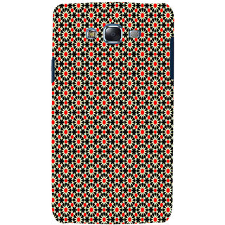 ifasho Animated Pattern design black and red flower in white background Back Case Cover for Samsung Galaxy J7 (2016)
