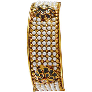 Rejewel Gold Plated Antique Kada For Women Size 2.4