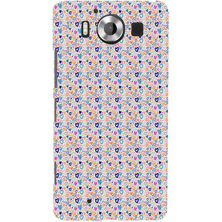 ifasho Modern Art Design Pattern with Lot Of small heart Back Case Cover for Nokia Lumia 950