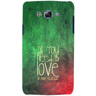 ifasho Love Quotes for love and chocolate Back Case Cover for Samsung Galaxy J7
