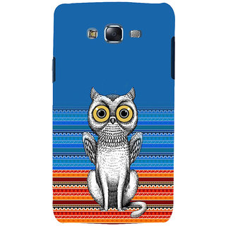 ifasho ModernBird and Owl Pattern Back Case Cover for Samsung Galaxy J7