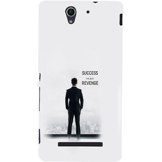ifasho quotes on success Back Case Cover for Sony Xperia C3 Dual
