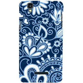 ifasho Animated Pattern design colorful flower in royal style Back Case Cover for YU Yurekha