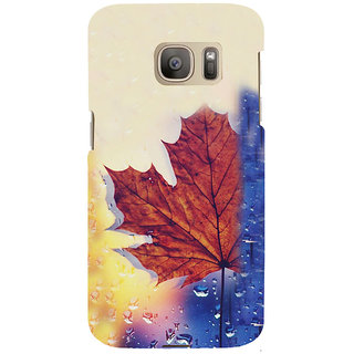 ifasho water Drop on brown leaf Back Case Cover for Samsung Galaxy S7 Edge