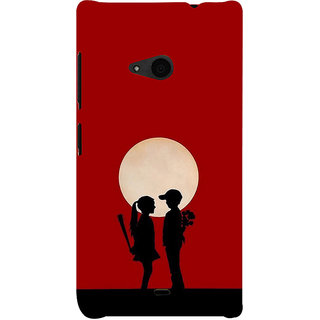 ifasho Boy and girl love Back Case Cover for Nokia Lumia 535
