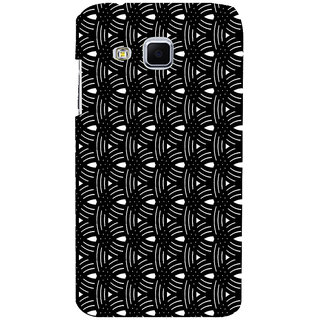 ifasho Animated Pattern design black and white semi circle in royal style Back Case Cover for Samsung Galaxy J3