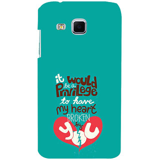 ifasho Heart Break Girl Back Case Cover for Samsung Galaxy J3
