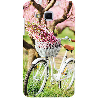 ifasho Cycle in a park with flowers and grass Back Case Cover for Samsung Galaxy J3