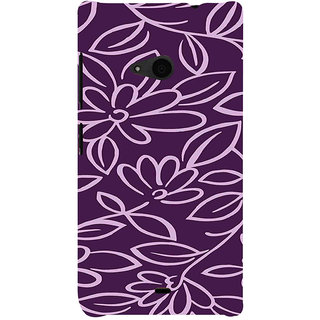 ifasho Animated Pattern colrful 3Daditional design cloth pattern Back Case Cover for Nokia Lumia 535