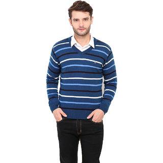 Duke Navy Long Sleeve Cardigan For Men