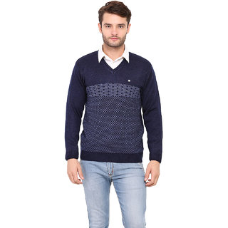 Duke Navy Long Sleeve Cardigan For Men