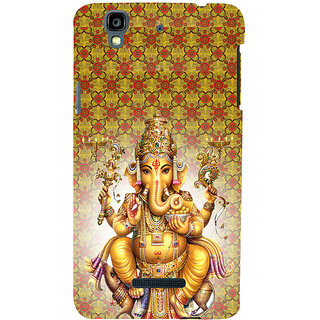 ifasho Lord Ganesha Back Case Cover for YU Yurekha