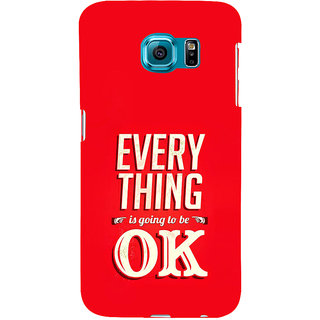 ifasho everything will be ok quotes Back Case Cover for Samsung Galaxy S6