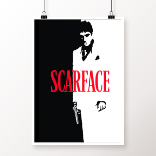 Desi Swag Multicolor Paper Posters Scarface