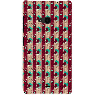 ifasho Animated Pattern design colorful flower in vertical s3Dipe Back Case Cover for Nokia Lumia 535