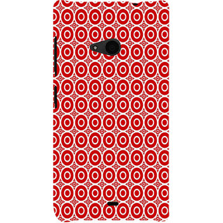 ifasho Animation Clourful white Circle on red background Pattern Back Case Cover for Nokia Lumia 535