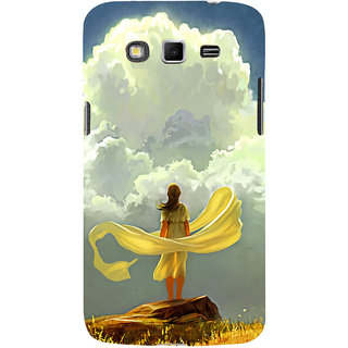 ifasho Girl waiting art work painting Back Case Cover for Samsung Galaxy Grand