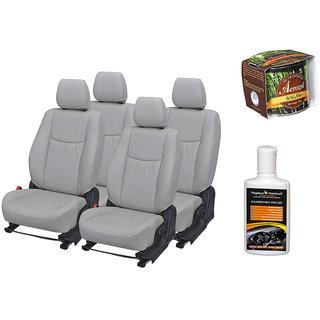 Pegasus Premium Seat Cover for  Renault Logan With Aerozel Wild Mist Gel Perfume and Dashboard polish