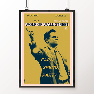Desi Swag Multicolor Paper Posters The Wolf Of Wallstreet