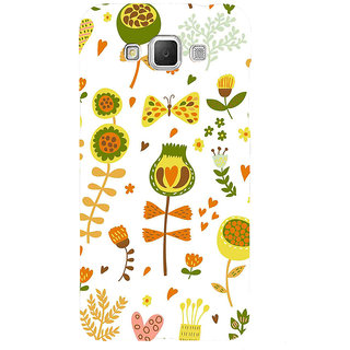 ifasho Animated Pattern colrful design cartoon flower with leaves Back Case Cover for Samsung Galaxy Grand3