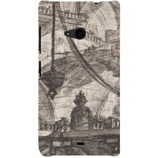 ifasho Modern art painting of city Building  Back Case Cover for Nokia Lumia 535