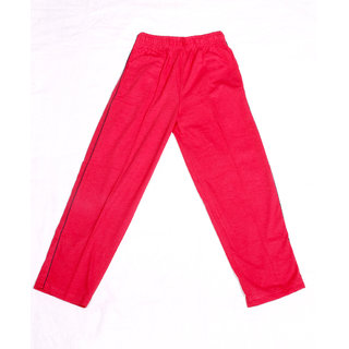 IndiWeaves Boys Premium Cotton Full Length Lower with 2 Open Pocket_Red_18-24 Months