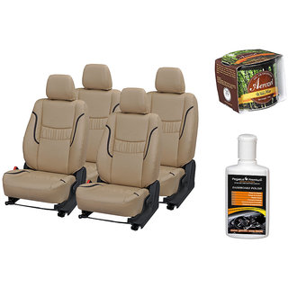 Pegasus Premium Seat Cover for  Tata Zest With Aerozel Wild Mist Gel Perfume and Dashboard polish