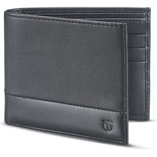 Titan Black Genuine Leather Wallet For Men