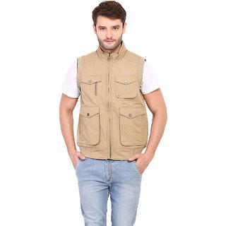 Duke Khaki Sleeveless Jacket For Men