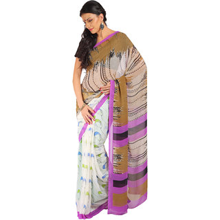 Aryahi Multicolor Printed Georgette Saree With Blouse