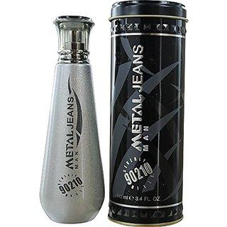 BEVERLY HILLS 90210 Metal Jeans SP Eau De Toilette for Men, 3.4 Fluid Ounce
