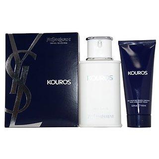 Yves Saint Laurent Kouros 2 Piece Gift Set for Men (Eau de Toilette Spray Plus Hair and Body Wash)