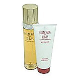 Diamonds & Rubies By Elizabeth Taylor For Women. Gift Set  Eau De Toilette Spray 3.3-Ounce + Body Lotion 3.3-Ounce) Bottle