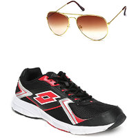 Lotto Vector Black And Red Sport Running Shoes F5R4263-3620 - 100663714