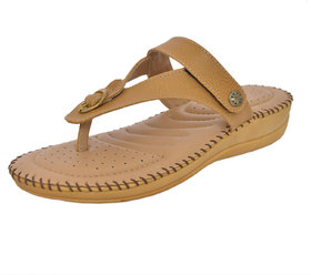 Athlego Women's Brown Flip Flops