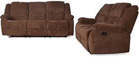 Earthwood - Sofa recliner set 3+2 (chocolate colour)
