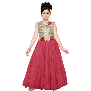 3d10b3d18 Buy Aarika Girls Blue Self Design Net Gown Online - Get 25% Off