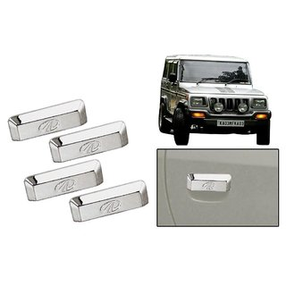 DLT -Chrome Plated Car Door Handle Cover for Mahindra Bolero (Set of 4)