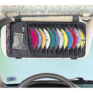 Car CD DVD Visor Organizer Holder Storage Black