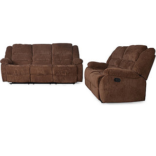 Earthwood - Sofa recliner set 3+2 (chocolate colour)